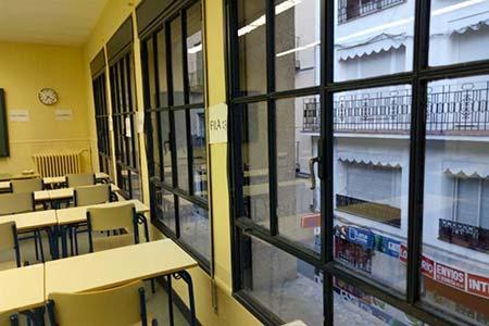 Ventanales y parte de aulario de sede Gregorio Marañón.